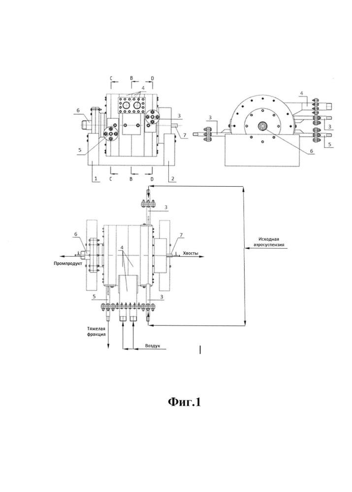 Пневмосепаратор для гравитационного обогащения пылевидных материалов
