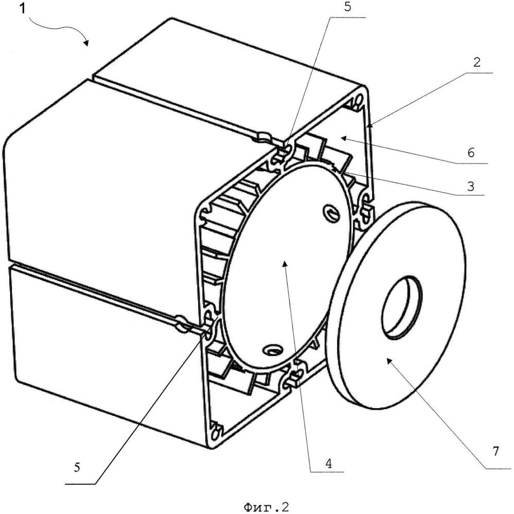 Корпус-радиатор светодиодного прожектора