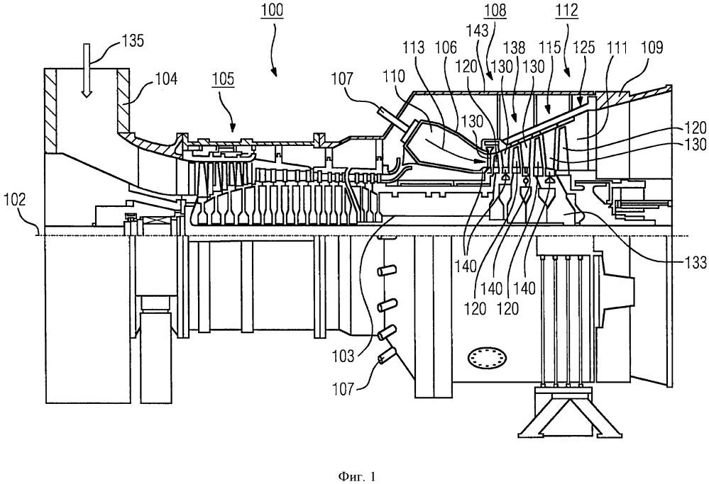 Сегмент уплотнительного кольца для статора турбины