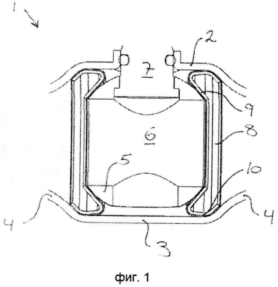 Упругий уплотнитель для корпуса клапана