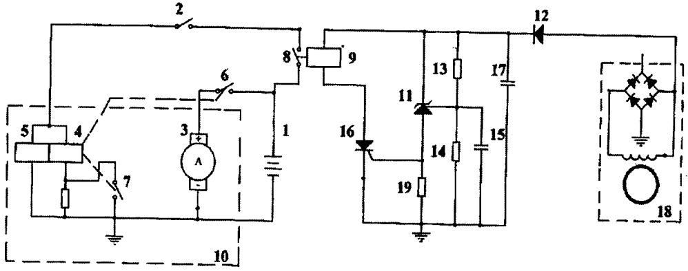 Схема включения стартера двигателя внутреннего сгорания