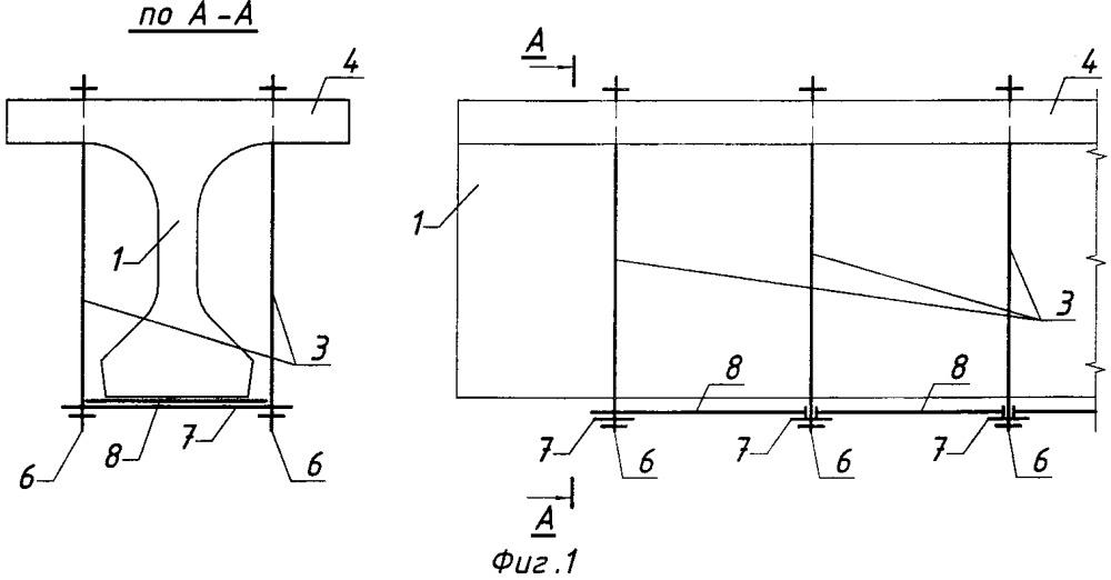 Способ усиления железобетонной балки пролетного строения моста