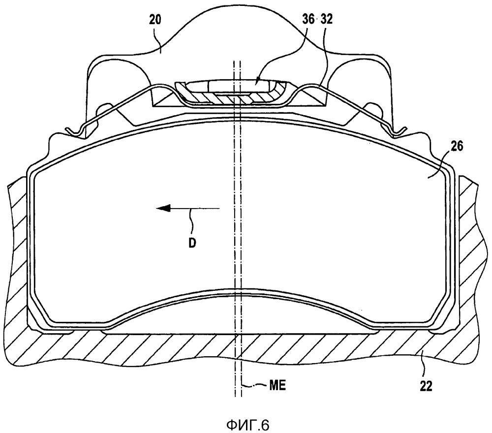 Скобовый дисковый тормоз транспортного средства, в частности автомобиля промышленного назначения, и скоба такого тормоза
