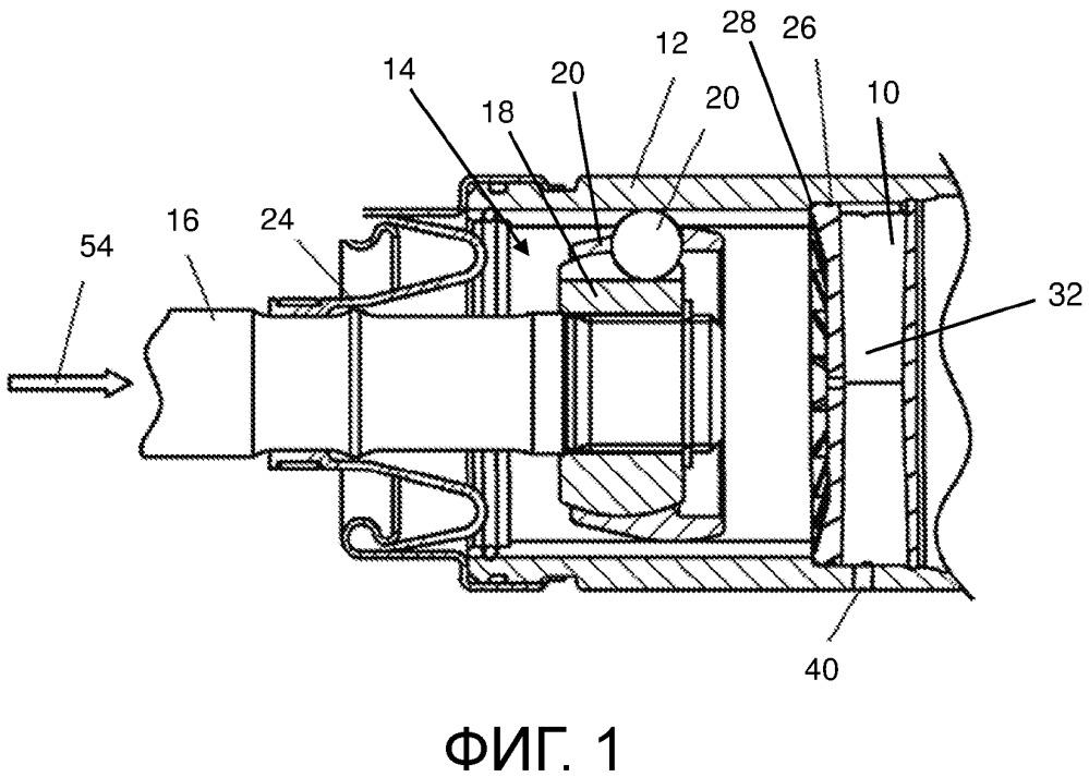 Удерживающий смазочный материал узел для шарнира приводного вала транспортного средства