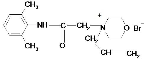 Применение производного 2,6-диметилфенилацетамида, обладающего местноанестезирующей активностью, для инфильтрационной и проводниковой анестезии