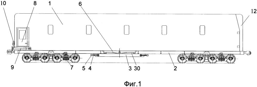 Вагон в.в. бодрова для подвижных тяжелых негабаритных грузов