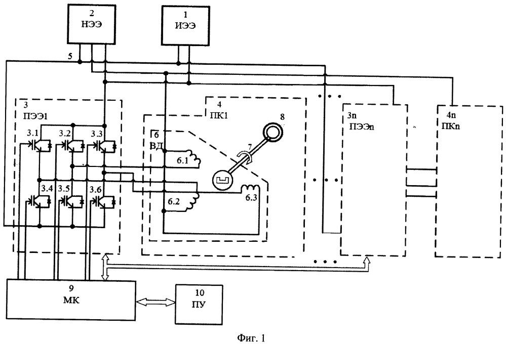 Гибридное транспортное средство с вентильным двигателем