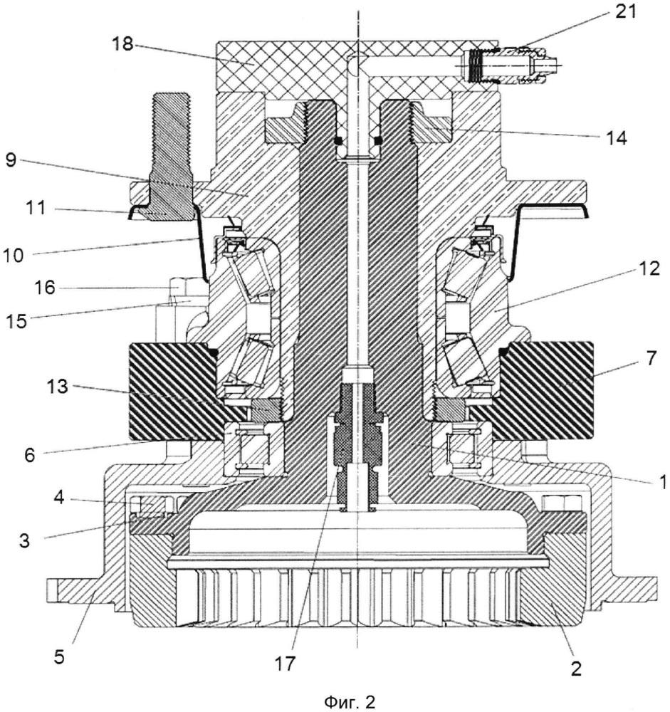 Усиленный ступичный узел с возможностью подвода воздуха для организации централизованной подкачки колёс в движении