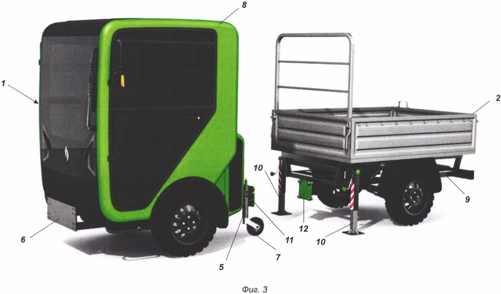 Малогабаритное модульное транспортное средство
