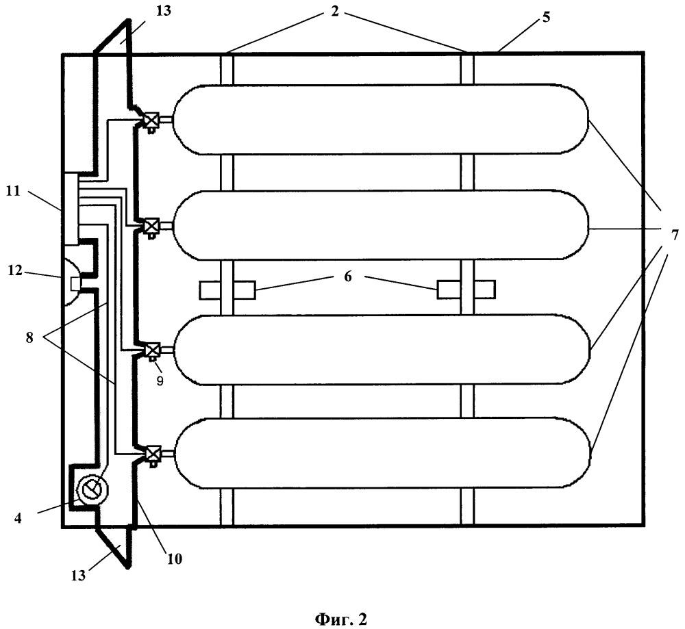 Контейнер для баллонов с компримированным природным газом