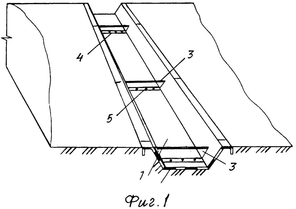 Способ устройства водоотводного сооружения