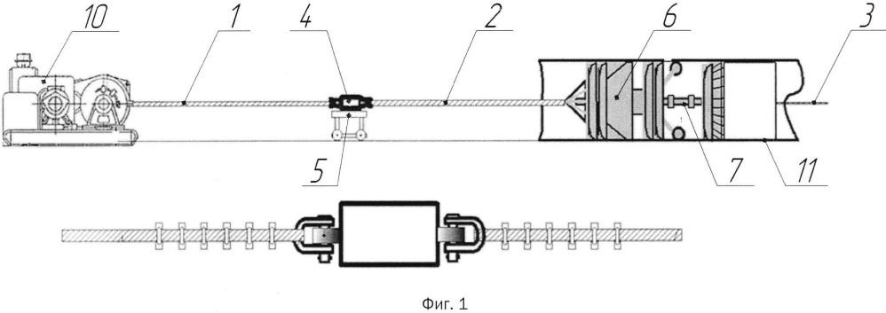 Способ внутритрубной диагностики трубопроводов с использованием метода сухой протяжки