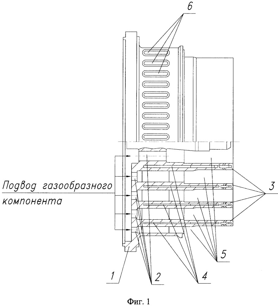 Смесительная головка камеры сгорания жрд