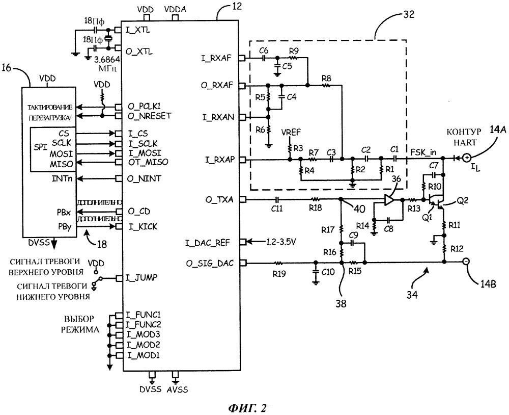 Модуль связи для производственно-технологической сети