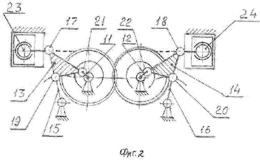 Механизм преобразования движения для поршневой машины