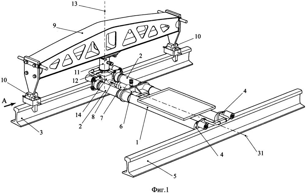 Устройство для имитации вертикального и горизонтального воздействия колеса на рельс