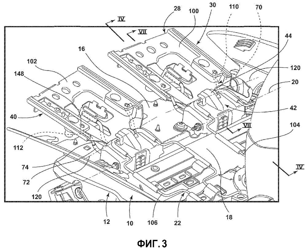 Многокомпонентная пружинная система для динамической опоры для бедер и подушки