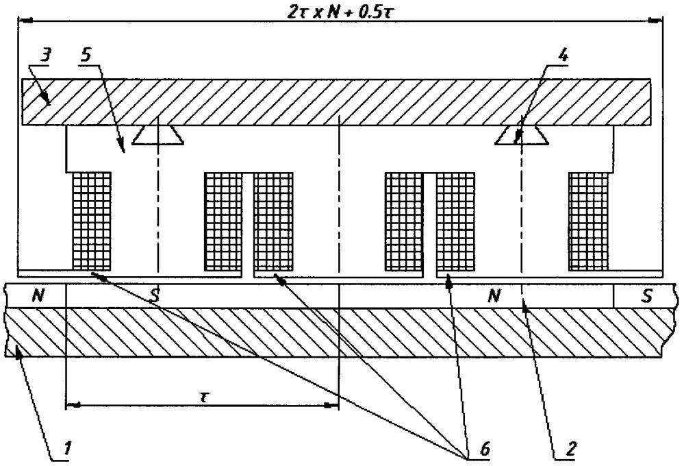 Линейный электродвигатель