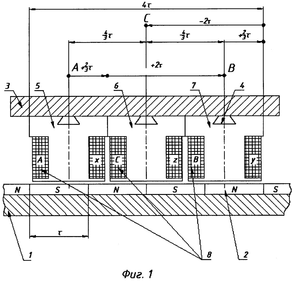 Синхронный линейный электродвигатель