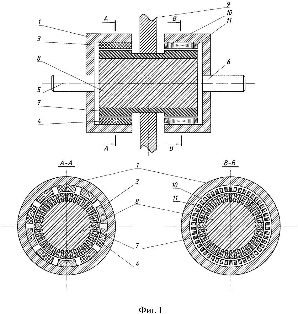 Асинхронная статорная магнитная муфта