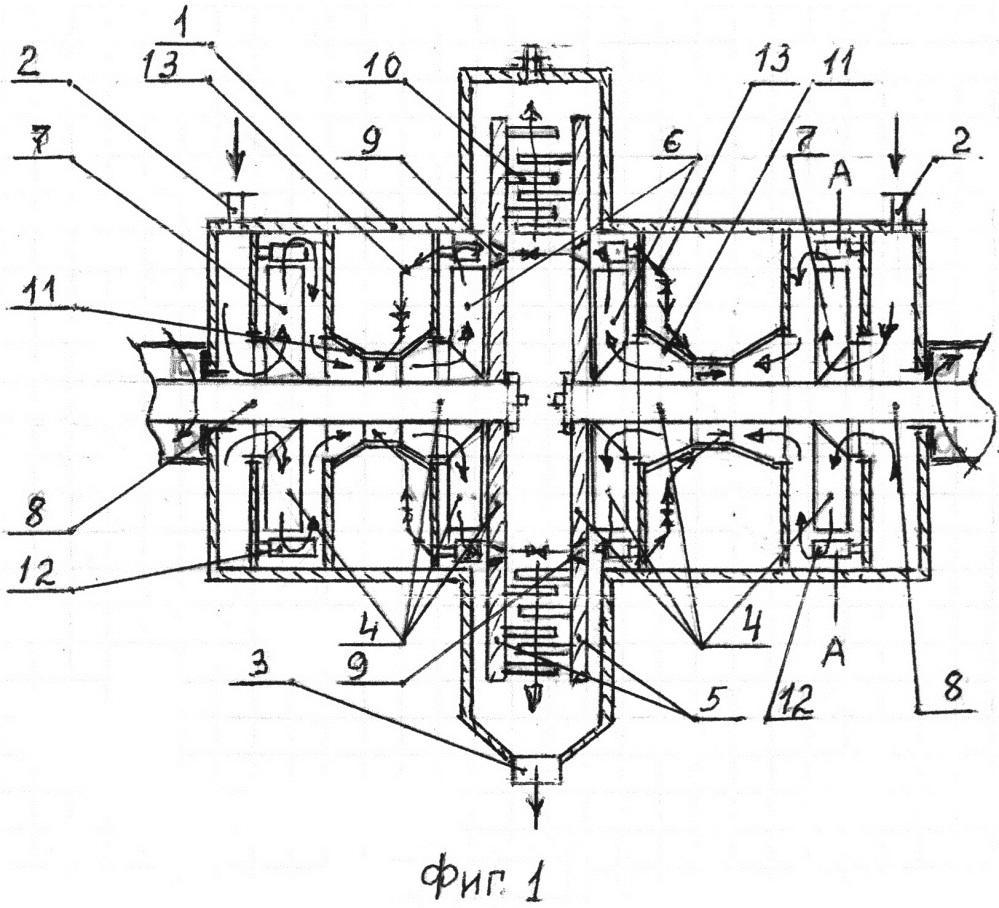 Многоступенчатый кавитационный теплогенератор (варианты)