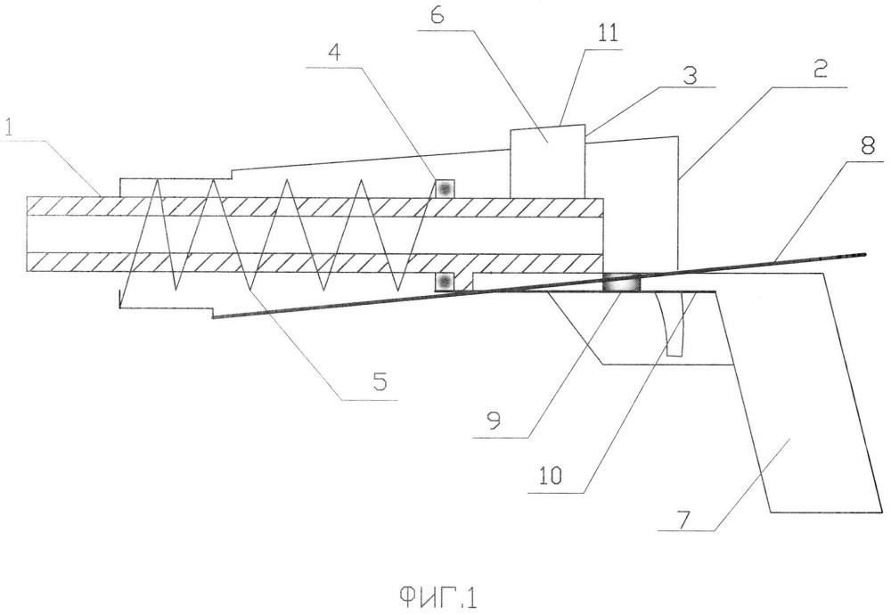 Автоматика стрелкового оружия с наклонной направляющей