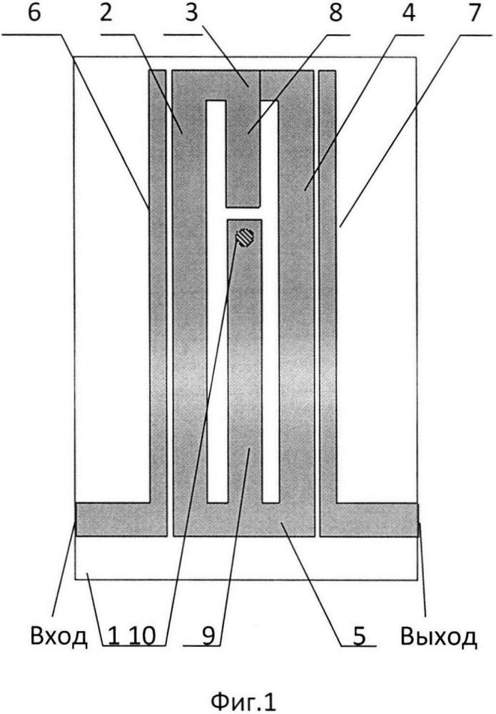 Полосковый полоснопропускающий фильтр