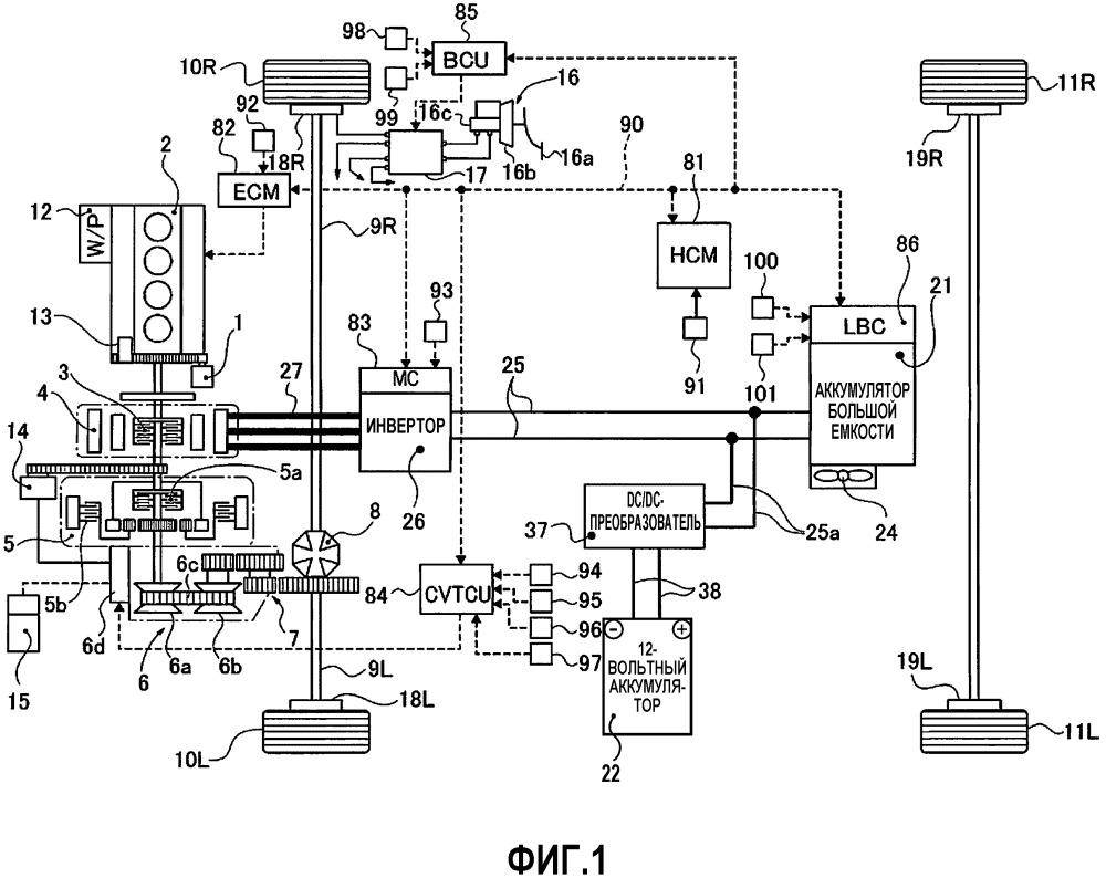 Устройство рекуперативного управления скоростью транспортного средства