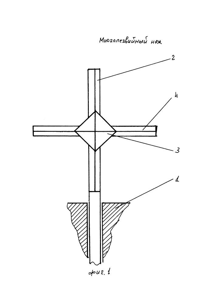 Многолезвийный нож для дровокола