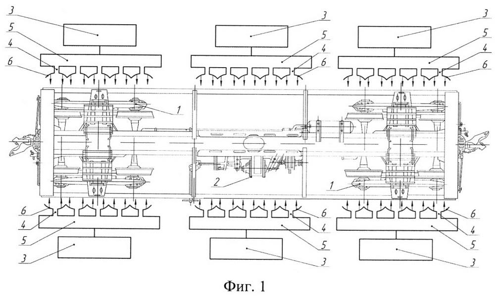 Способ удаления льда и наледи с ходовых частей подвижного состава