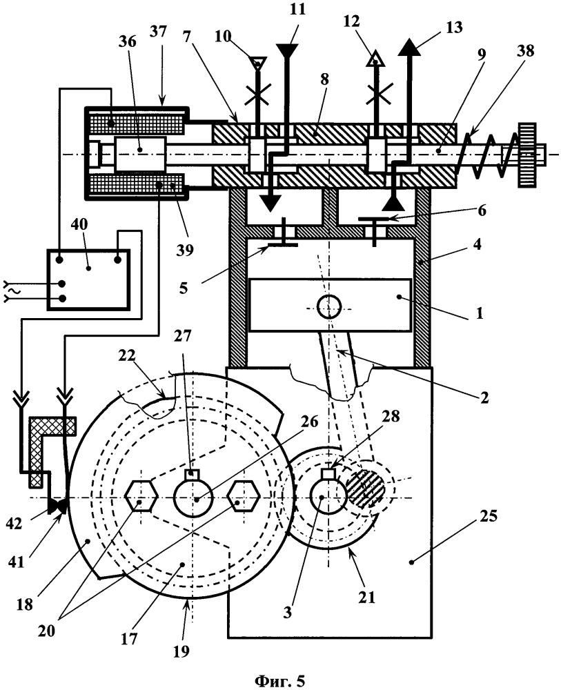Способ работы поршневой гибридной энергетической машины и устройство для его осуществления