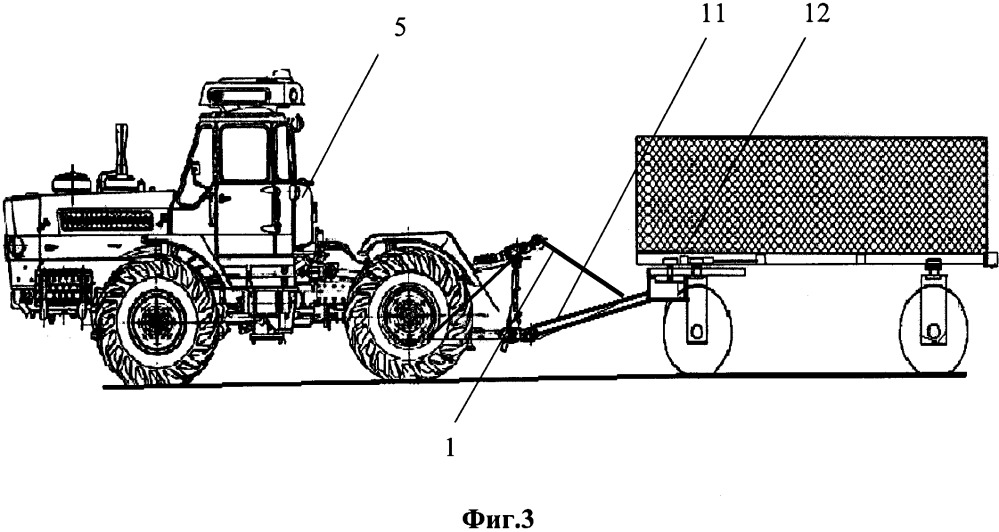 Гидронавесной догружатель полурамного трактора