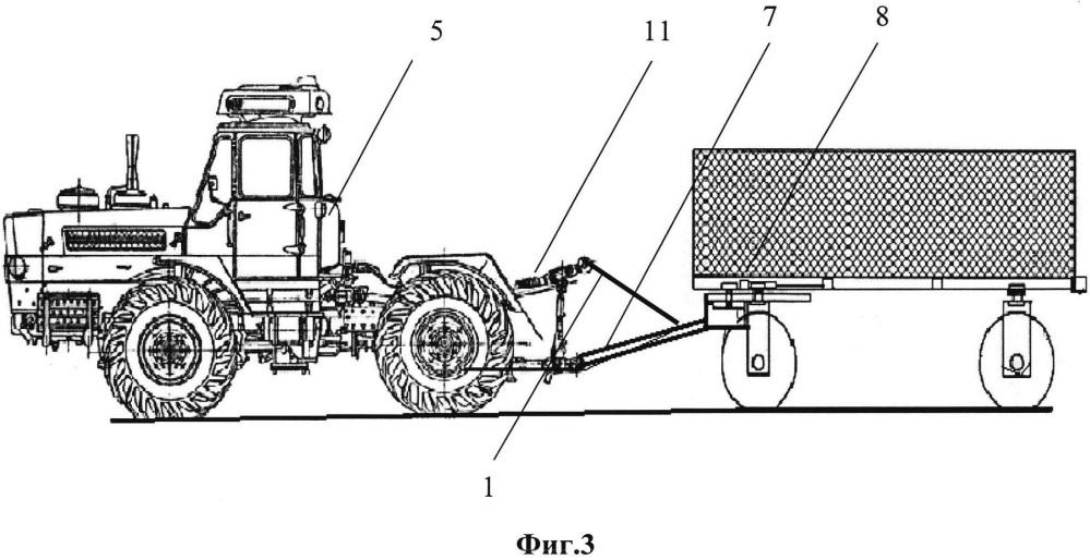 Гидроцепной догружатель полурамного трактора
