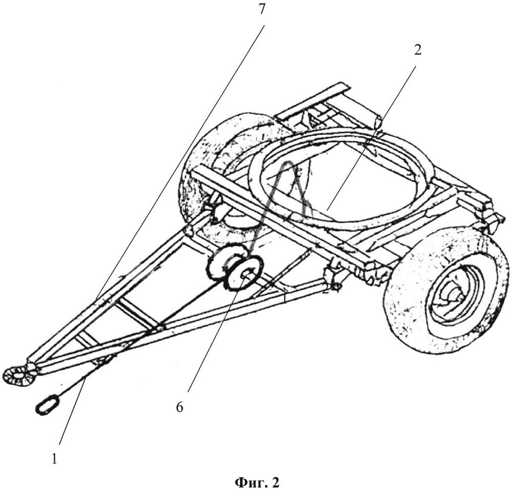 Автоматический догружатель энергетического средства тракторно-транспортного агрегата