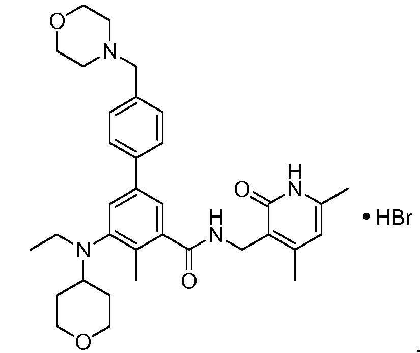Солевая форма ингибитора гистон-метилтрансферазы ezh2 человека