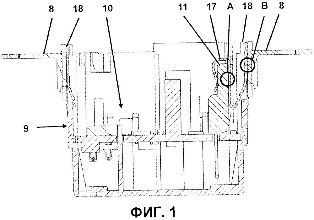 Устройство скрытого монтажа устанавливаемого в здании электрооборудования