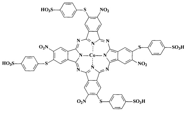 Гомогенный катализатор окисления n,n-диэтилкарбомодитиолата натрия на основе тетра-4-(1-бензотриазолил)тетра-5-(4-сульфофенил-сульфанил)фталоцианина кобальта (ii)