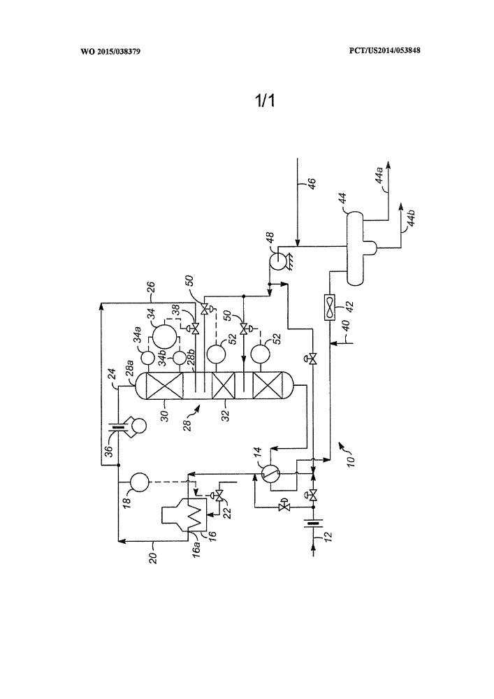 Реакционный слой катализатора с раздельной подачей сырья в установке для гидроочистки