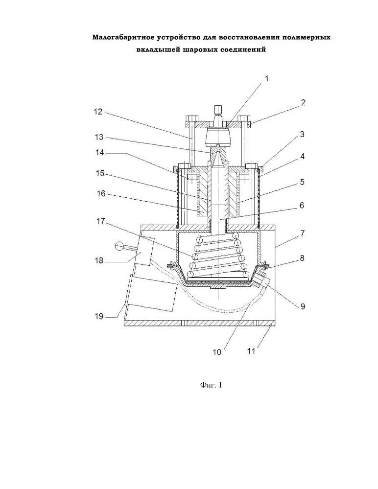Малогабаритное устройство для восстановления полимерных вкладышей шаровых соединений