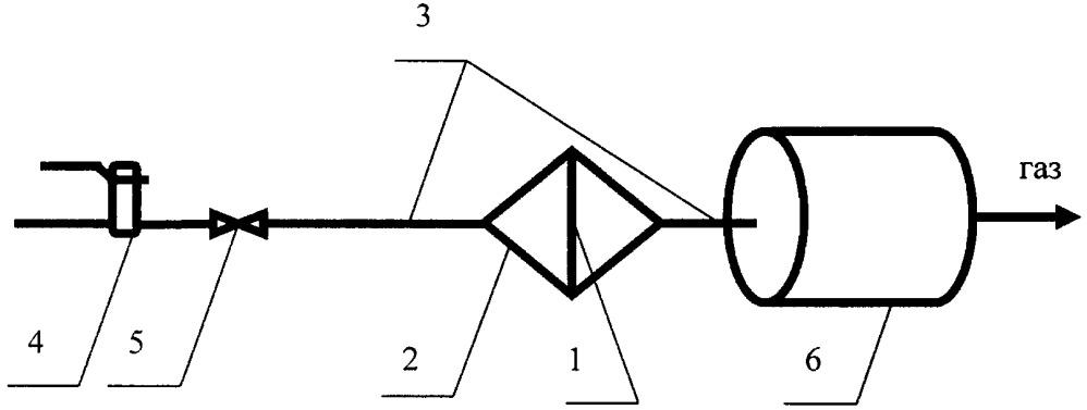 Способ гравиметрического определения механических примесей в природном газе путём осаждения частиц из природного газа