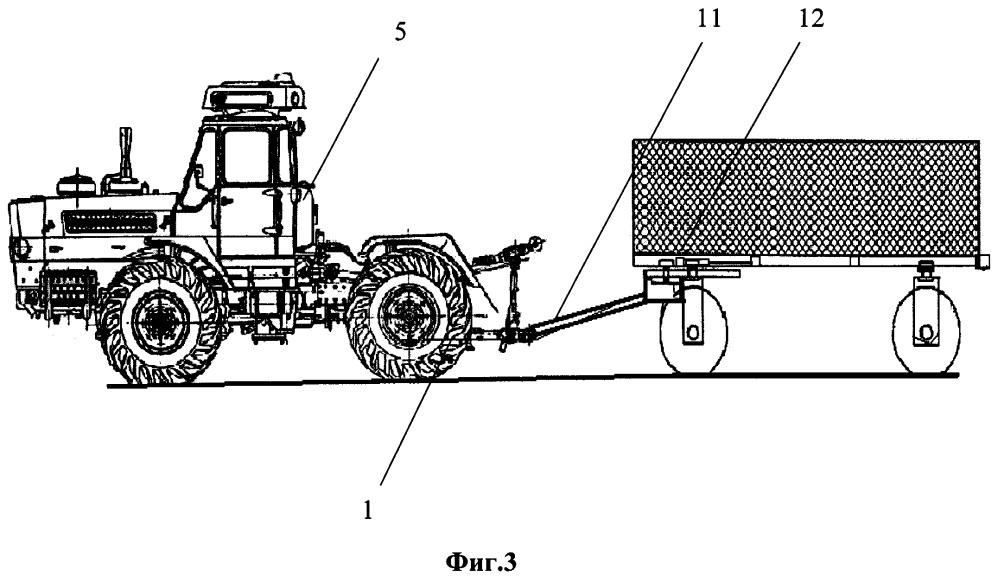 Тросовый догружатель полурамного трактора