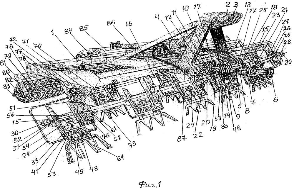 Комплект почвенных орудий к боронам и культиваторам с редукционными приводами с вращающимися лопастями викост