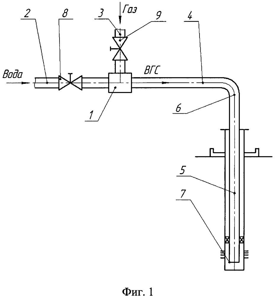 Способ подготовки и закачки мелкодисперсной водогазовой смеси в нагнетательную скважину и устройство для получения этой смеси