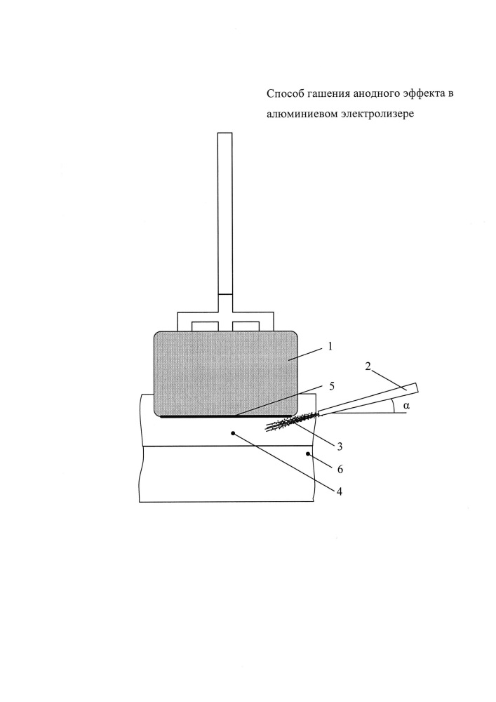 Способ гашения анодного эффекта в алюминиевом электролизере