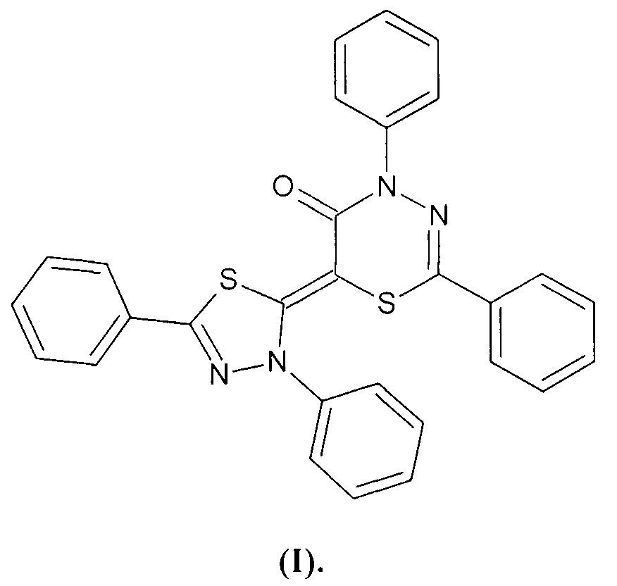 6-(3,5-дифенил-1,3,4-тиадиазол-2(3н)-илиден)-2,4-дифенил-4н-1,3,4-тиадиазин-5-он и способ его получения