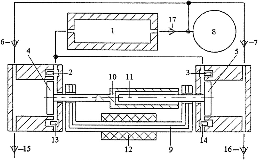 Способ синхронизации движения поршней в противофазе двухцилиндровой свободнопоршневой тепловой машины внешнего сгорания