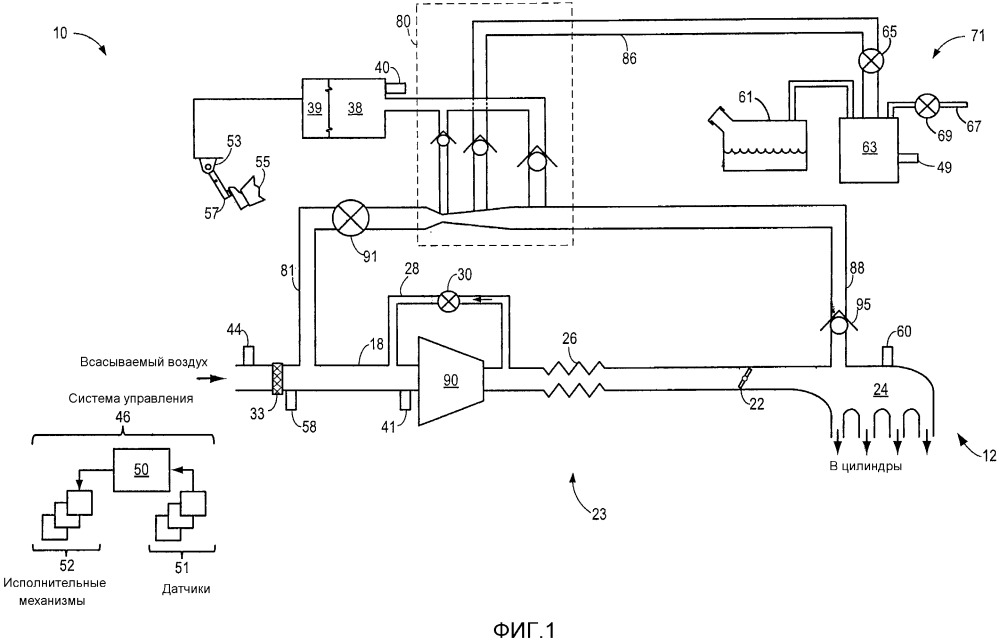 Система двигателя и способ для двигателя (варианты)
