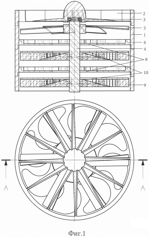 Осецентробежный многоступенчатый компрессор