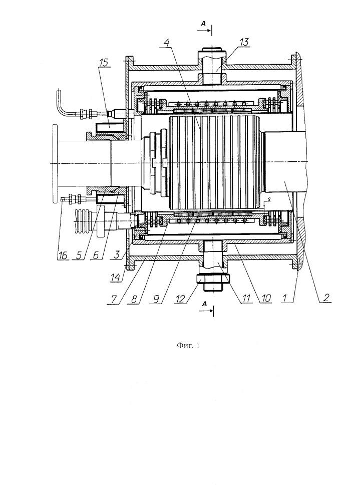 Магнитная опора на высокотемпературных сверхпроводниках для горизонтальных валов