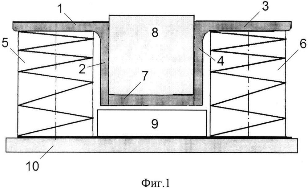 Виброизолятор с симметрично расположенными пружинами